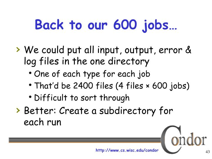 Back to our 600 jobs…