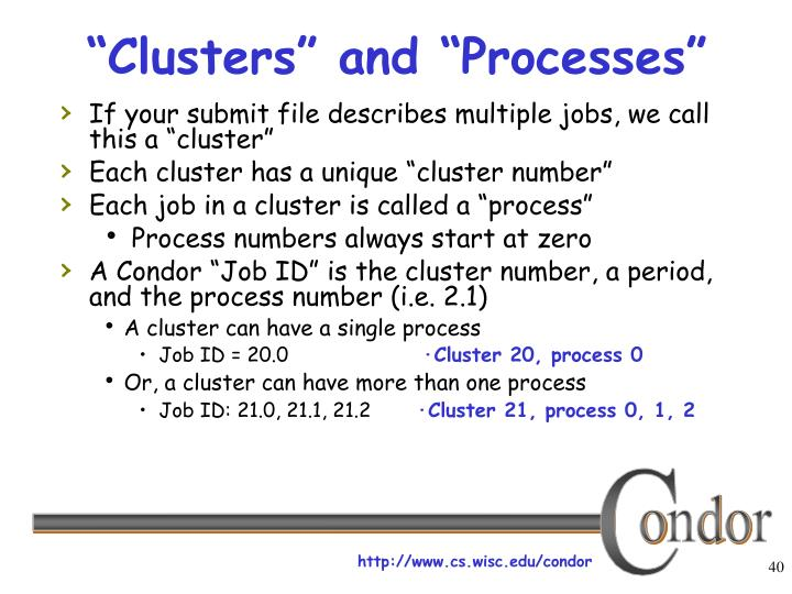 """Clusters"" and ""Processes"""