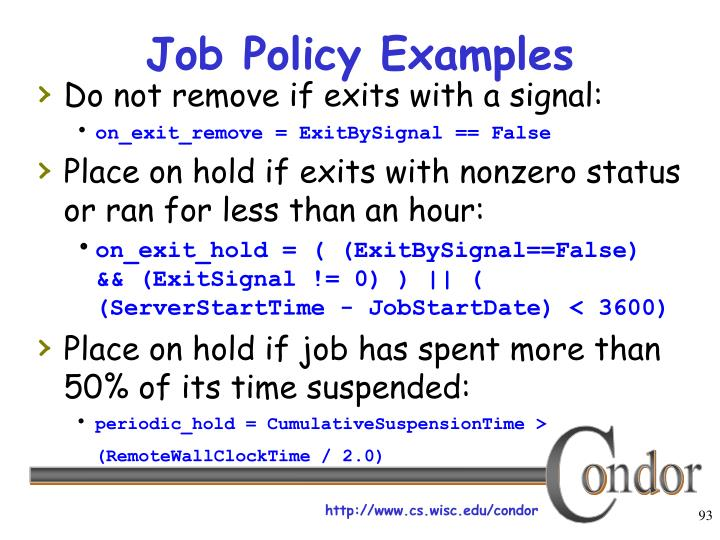 Job Policy Examples