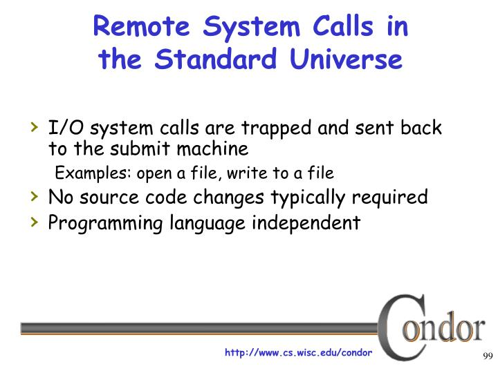 Remote System Calls in