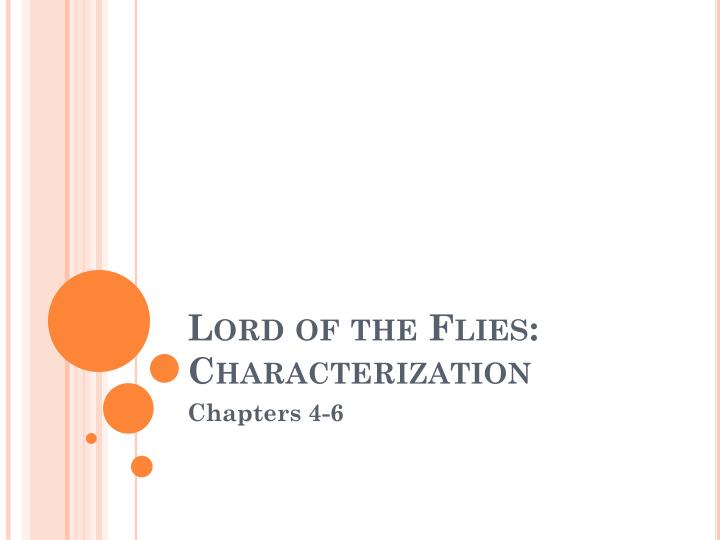 Lord of the flies characterization