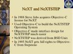 next and nextstep