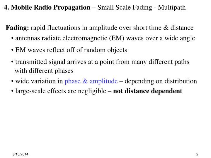 4. Mobile Radio Propagation