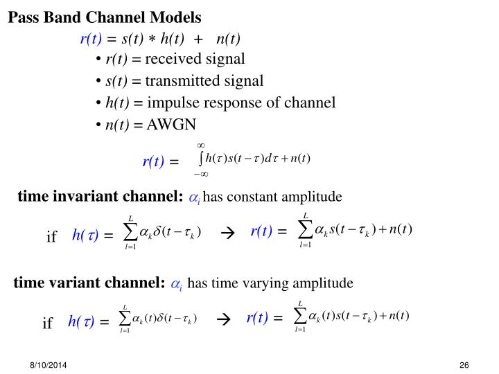 time invariant channel: