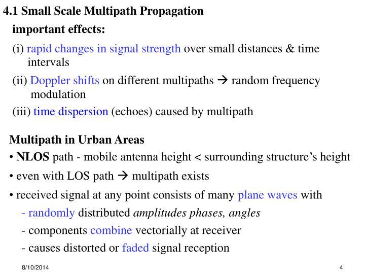4.1 Small Scale Multipath Propagation