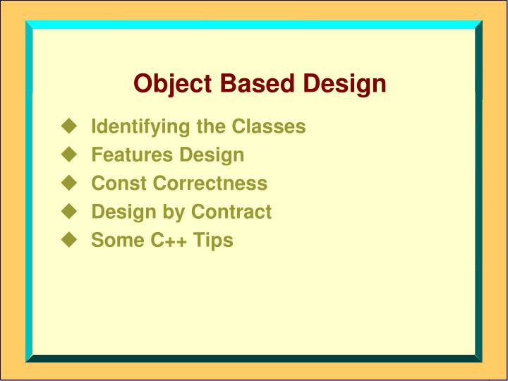 object based design n.