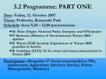 3 2 programme part one