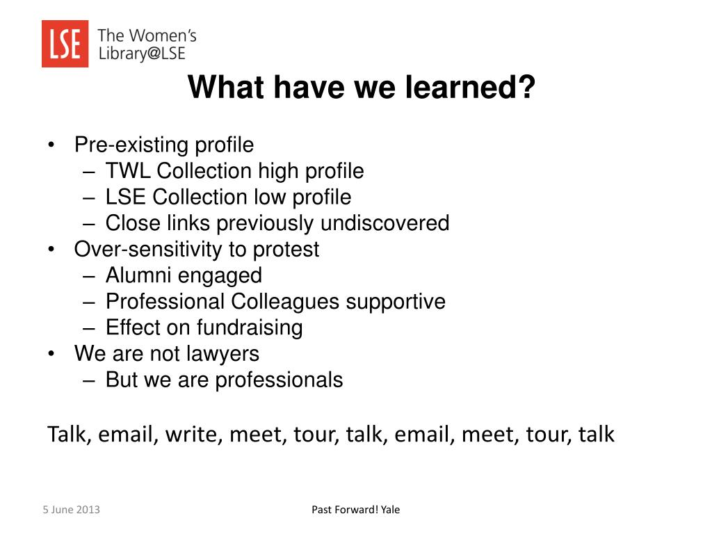 PPT - Holding the stakeholders together: The Women's Library