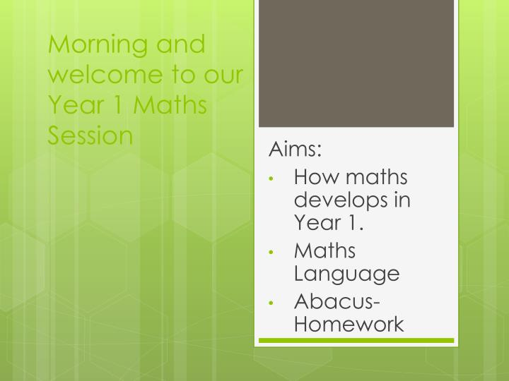 morning and welcome to our year 1 maths session n.