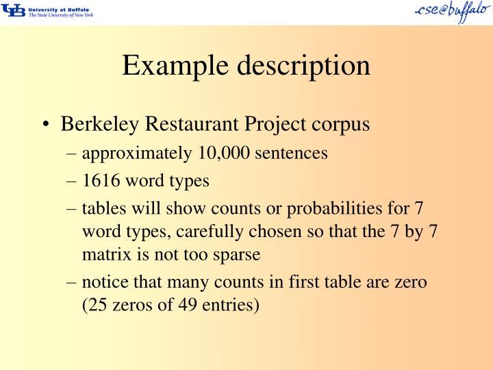 Example description