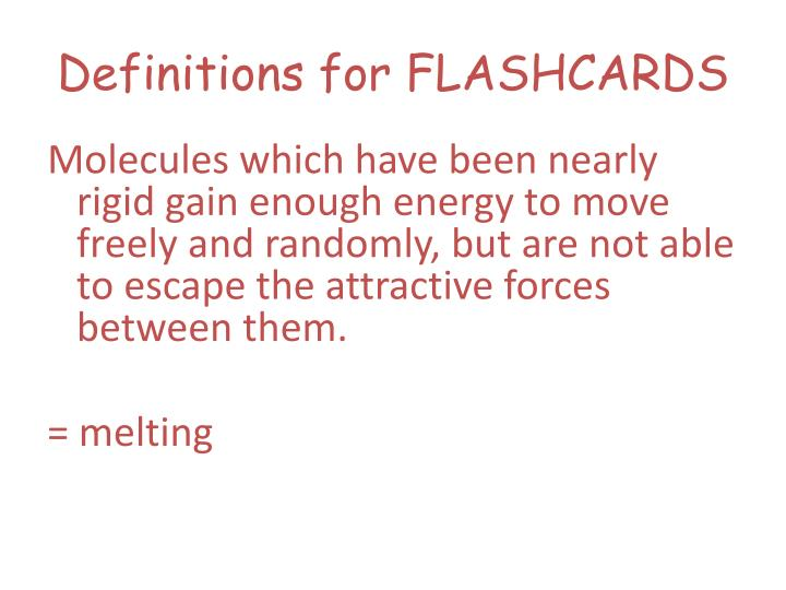 definitions for flashcards n.