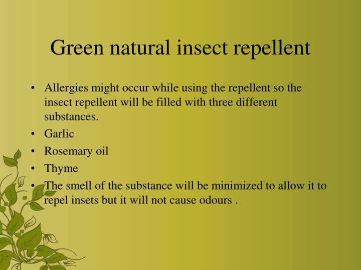 Green natural insect repellent