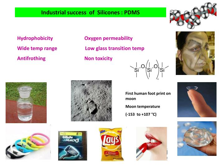 Industrial success  of  Silicones : PDMS