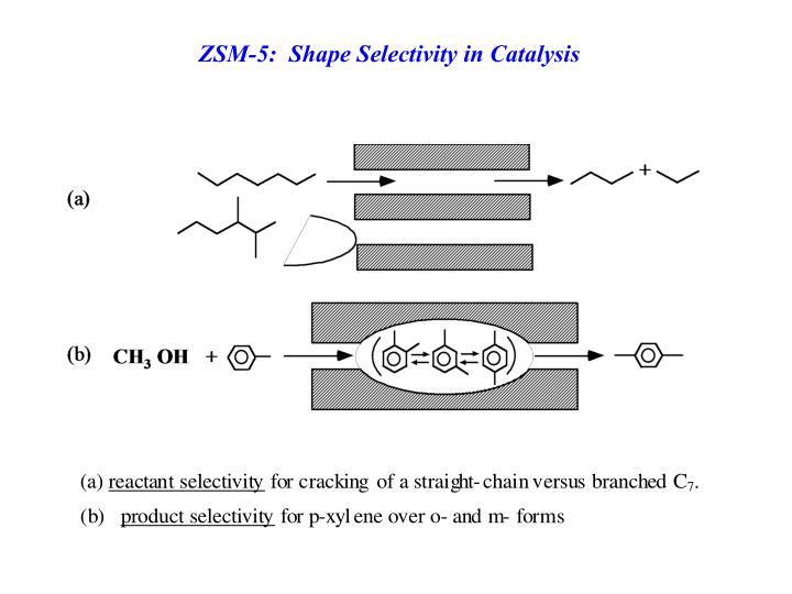 ZSM-5:  Shape Selectivity in Catalysis