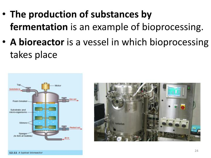 The production of substances by
