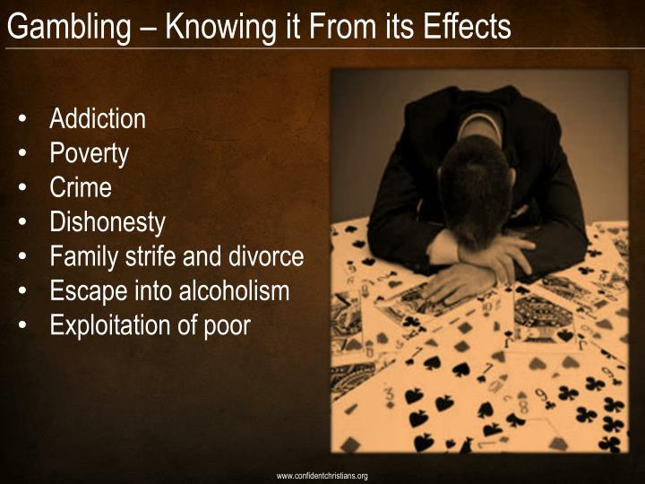 Gambling – Knowing it From its Effects