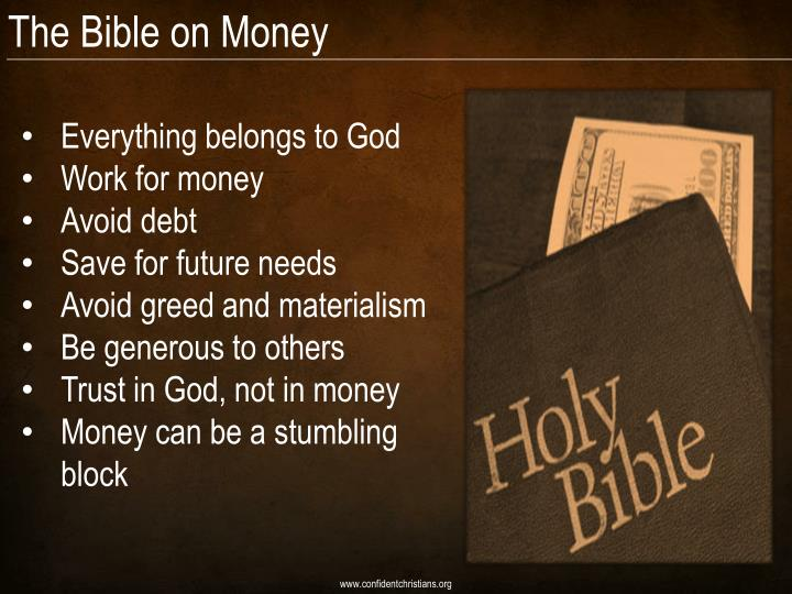 The Bible on Money