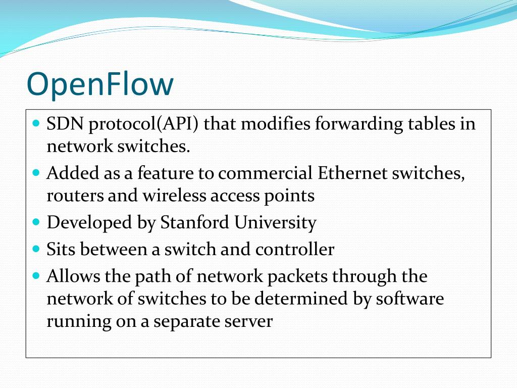 PPT - Software Defined Networks (SDN)/ OpenFlow Experience