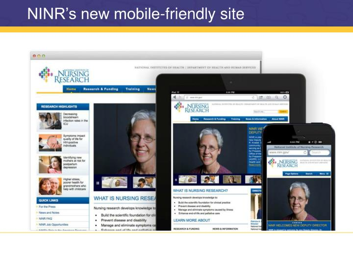 NINR's new mobile-friendly site