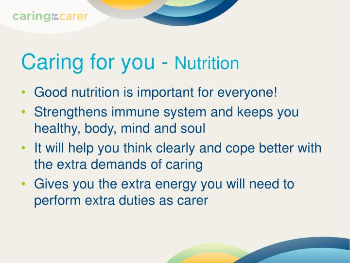Caring for you -