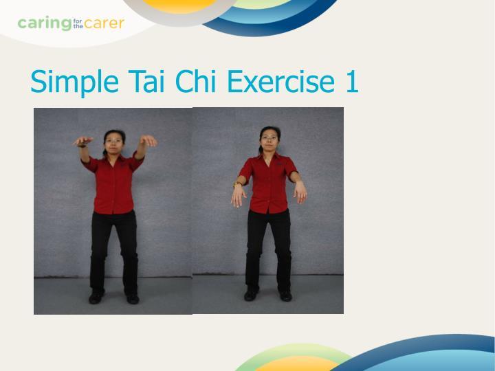 Simple Tai Chi Exercise 1