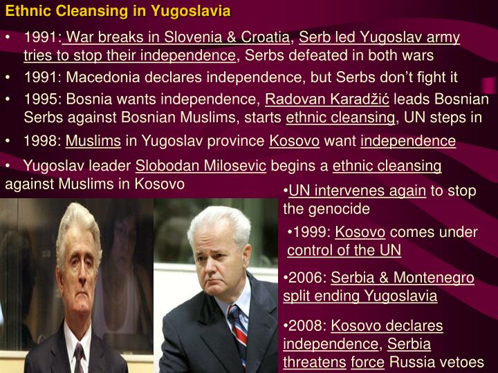 ethnic cleansing kosovo Ethnic albanian leaders in kosovo accused the serbs of laying siege to kosovo and of attempting ethnic cleansing.