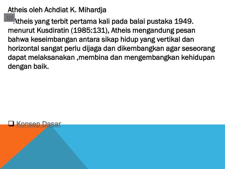 Atheis oleh Achdiat K. Mihardja