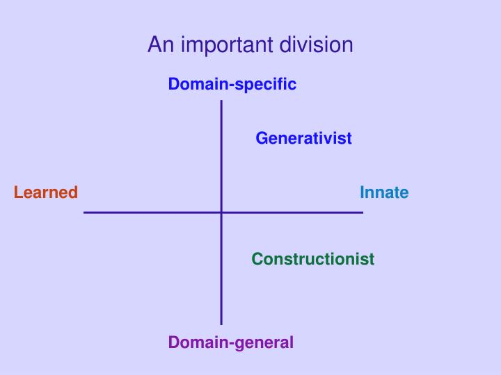 An important division