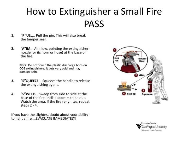 How to Extinguisher a Small Fire