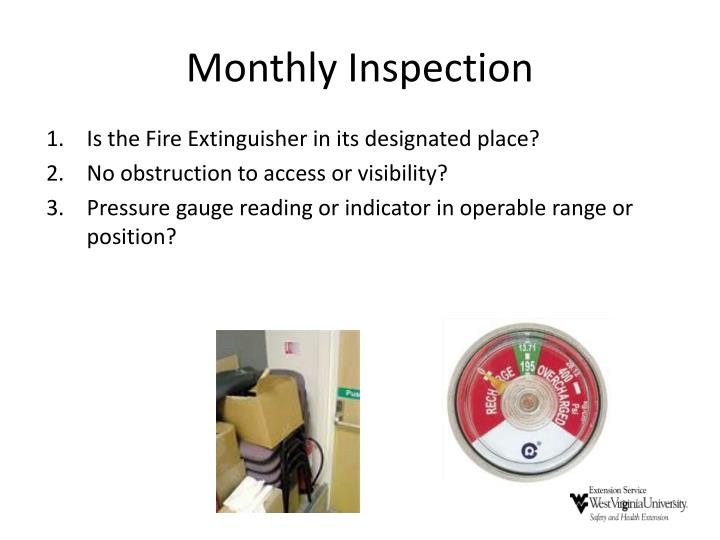 Monthly Inspection