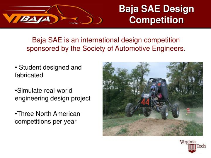 PPT - Baja SAE Design Competition PowerPoint Presentation