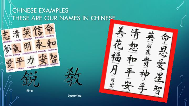 Chinese examples