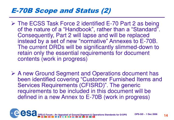 E-70B Scope and Status (2)