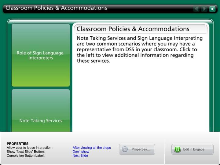 Classroom Policies & Accommodations
