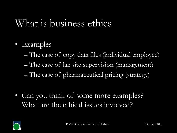 Ppt B368 Business Issues And Ethics Powerpoint Presentation Id