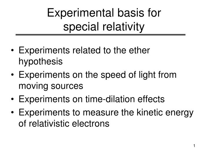 an introduction to the experiment to measure the speed of light Experiment: conduction velocity-how fast is a neuron not even light  to measure speed (velocity).