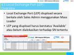 4 5 local exchange port lep overview