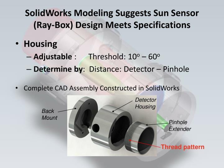 SolidWorks Modeling Suggests Sun Sensor