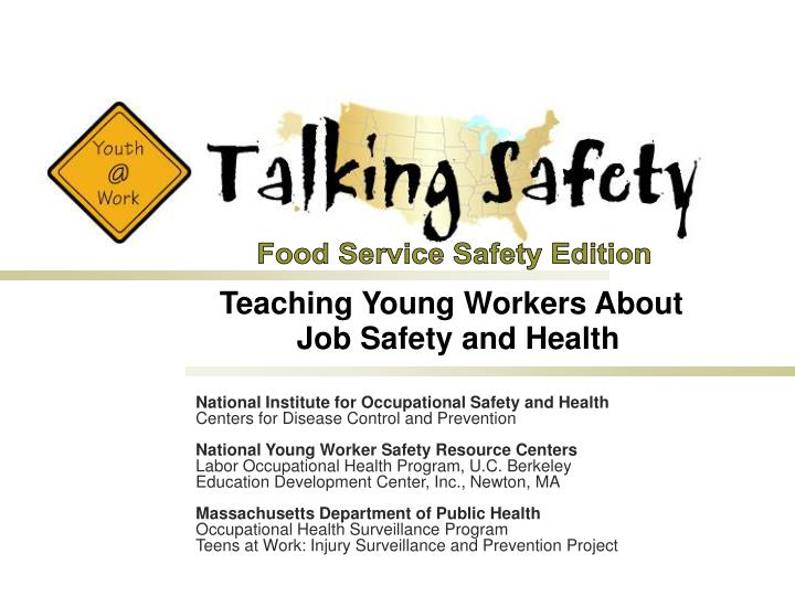 teaching young workers about job safety and health n.