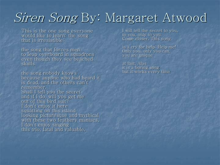siren song margaret atwood