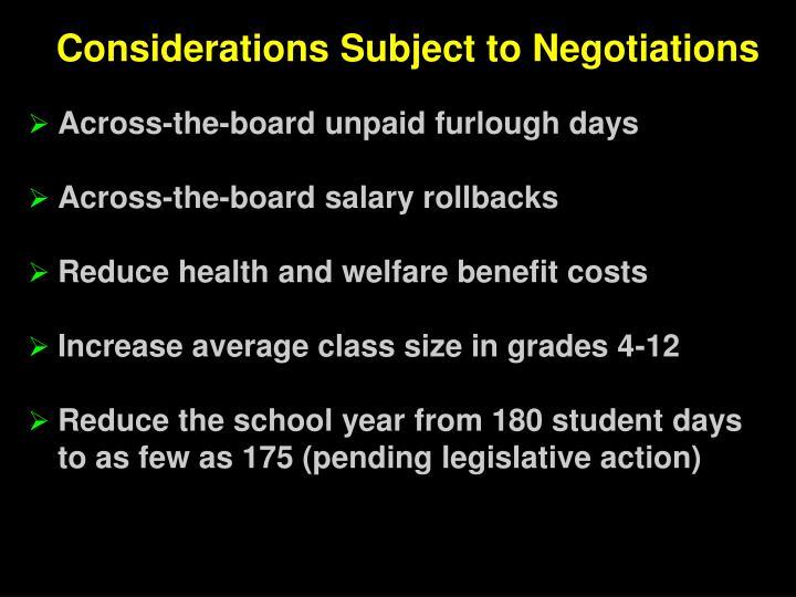 Across-the-board unpaid furlough days