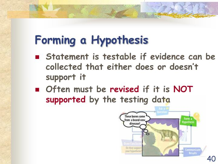 Forming a Hypothesis
