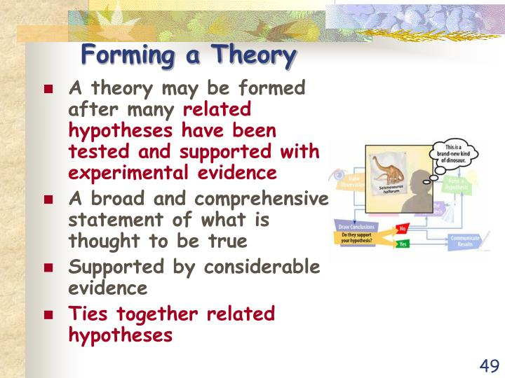 Forming a Theory