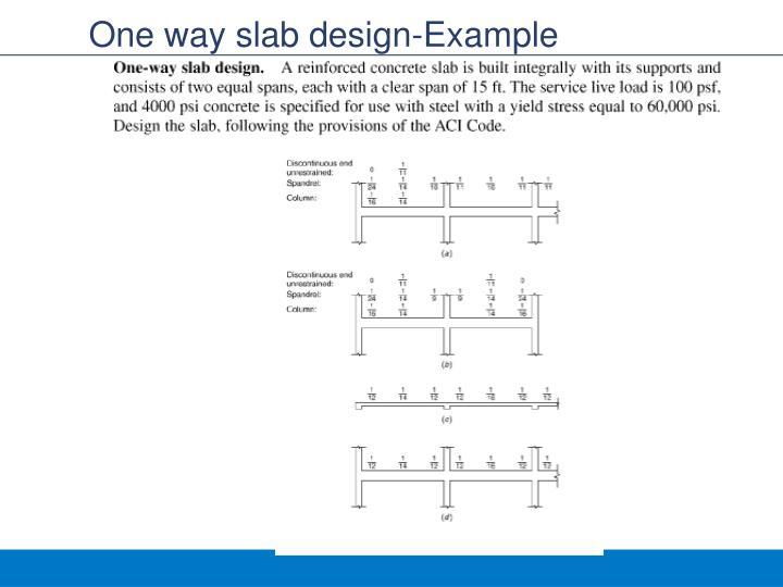 One way slab design-Example