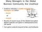 many managers in the global business community are unethical