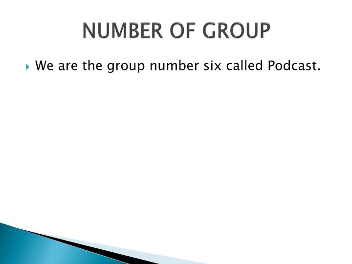 Number of group