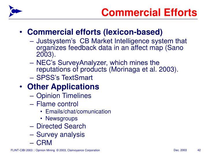 Commercial Efforts