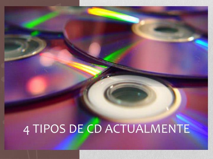 4 TIPOS DE CD ACTUALMENTE