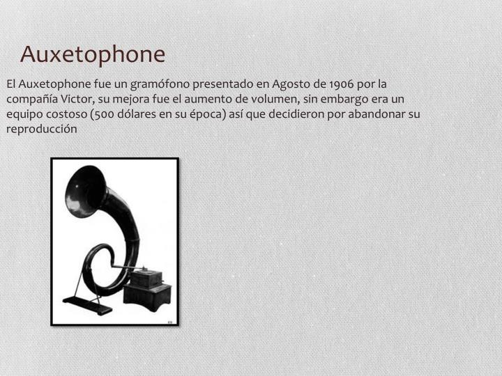 Auxetophone