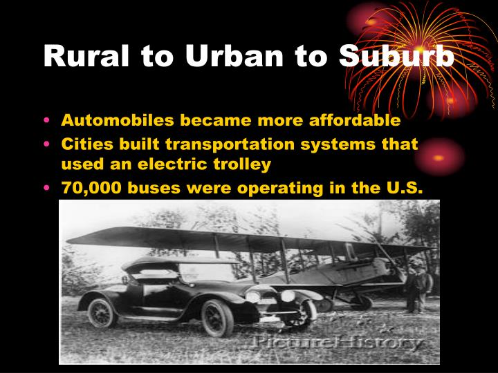 Rural to Urban to Suburb